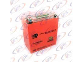 Аккумулятор гелевый для мотоцикла 12В 14А YTX16-BS  (I-GEL) с индикатором, OUTDO