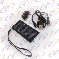 Универсальная мобильная батарея Solar 1350mAH 5.5 V, чёрный