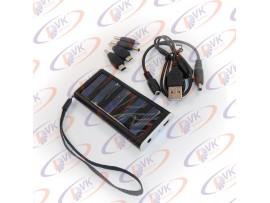 Універсальна мобільна батарея Solar 1350mAH 5.5 V, чорний