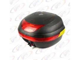 Кофр на мотоцикл LX-998-B черный съемный с красным отражателем
