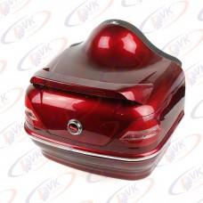 Багажник на скутер Mersedes с активным стопом и поворотами, красный