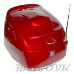 Кофр на скутер 618 abs  красный  (с антеной)