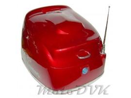 Кофр на скутер 618 abs червоний (з антеною)