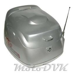Кофр на скутер 618 abs  серебр    (с антеной)
