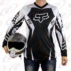 Джерси для мотокросса Fox QX-015 черно-белая, размер L