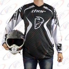 Джерси для мотокросса Thor QX-024 черная, размер L