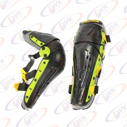 Мото наколенники Alpinestars Reflex чёрно-зелёные