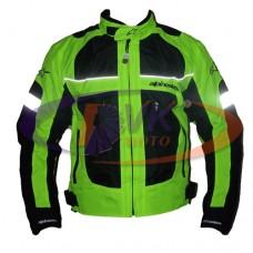 Мотокуртка Alpinestars черно-зеленая светоотражающая, размер M