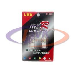 Лампа панели 12v T10 светодиодная 10 кристалов(к-т из 2 шт)