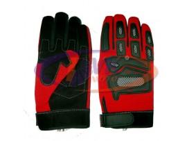 Мотоперчатки (со вставками) Armode MG-002 красные