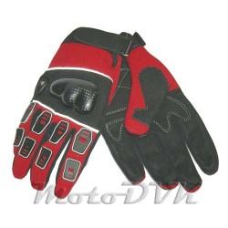 Мотоперчатки (с защитой пальцев) Armode MG-003 красные