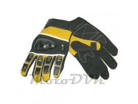 Мотоперчатки (с защитой пальцев) Armode MG-003 желтые