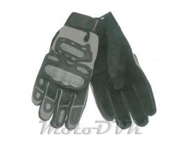 Мотоперчатки (с защитой пальцев) Armode MG-014 серые