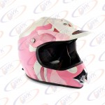 Кроссовый мотошлем  KY-B12A розовый с белым