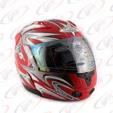 Шлем  с подъемн. чел. Yoshi  BJ-8000F  красный