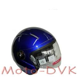 Мотошлем DVKmoto QL-K51  abs синий  без челюсти