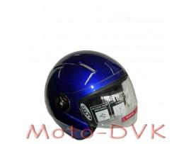 Мотошлем DVKmoto QL-K51 abs синій без щелепи