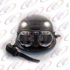Каска немецкая карбон с очками MoтоTech XL