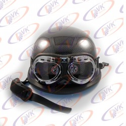 Мотокаска німецька карбон з окулярами MoтоTech розмір XL