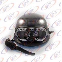 Мотокаска немецкая карбон с очками MoтоTech размер XL