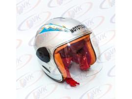 Шлем  детский без челюсти  MoтоTech  LY-906 серебро S