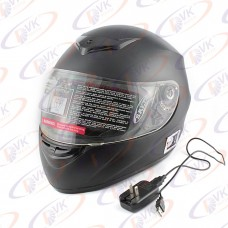 Шлем DVKmoto (DOT FMV SS 218) K-22B Bluetooth  матов.черный L