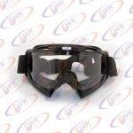 Мотоочкі кросові Vega MJ-100 чорні, біле скло