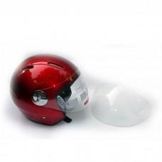 Шлем для скутера DVKmoto -51 красный, размер М   дополнительное стекло антискраб
