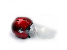 Шлем для скутера DVKmoto -51 красный, размер S   дополнительное стекло антискраб