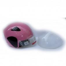 Мотошлем DVKmoto -55 розовый размер М   дополнительное стекло антискраб