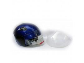 Мотошлем DVKmoto -55 синий размер М   дополнительное стекло антискраб