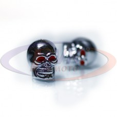 Колпачки на диски - череп  хром (к-т. 2 шт)