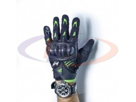 Мотоперчатки кожаные черно-зеленые Alpinestars M10 AC Glove, L