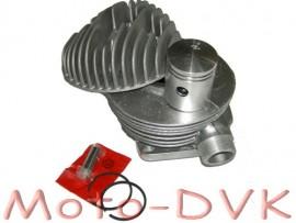 Цилиндр с головкой, поршнем, колцами, палцем на веломотор Д-6