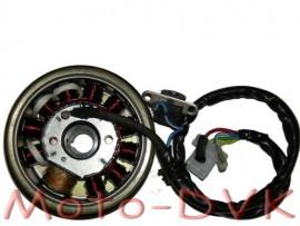 Генератор на скутер  50сс 2T QT-10A   (10 1 катушек 4 2 конт)