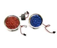 Стробоскопы светодиодные на мотоцикл  HY-3012, красно-синий свет