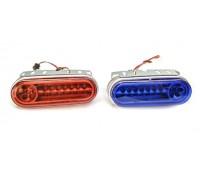 Стробоскопы светодиодные на мотоцикл HY-619, красно-синий свет