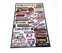 Наклейка на мотоцикл МТ5990 лист А3