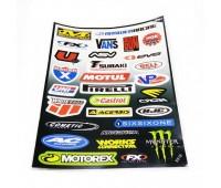 Наклейка на мотоцикл  МТ5518 лист А4