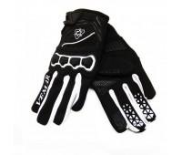 Мотоперчатки VEMAR  VE 190 чёрные с белым, размер L