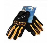 Мотоперчатки VEMAR  VE 190 чёрные с оранжевым, размер M