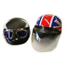 """Мотокаска  Британия""""( со съемным козырьком, визором и очками)"""
