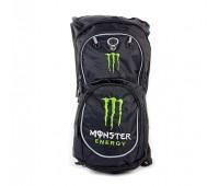 Мото рюкзак Monster Energy с гидратором,  черно-зеленый