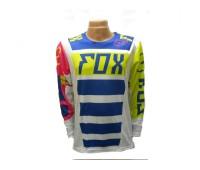 Джерси для мотокросса Fox сине-белая, размер M