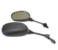 Зеркала на мотоцикл 10 мм Капля, черные (к-т 2 штуки)