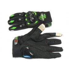 """Мотоперчатки   Монстр  """"сенсор"""" чёрные, размер L"""