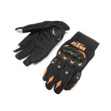 """Мотоперчатки KTM """"сенсор"""" чёрные, размер  XL"""