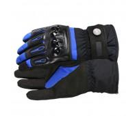 Мотоперчатки зимние Pro-Biker синие, размер L