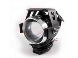 Светодиодная фара LED мотоцикла, для скутера U5 в защитном корпусе с креплением
