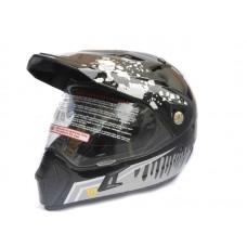 Кроссовый шлем (мотард) Нelmo Monster CR-188 черный, размер L
